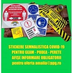 STICKERE SI AFISE COVID-13